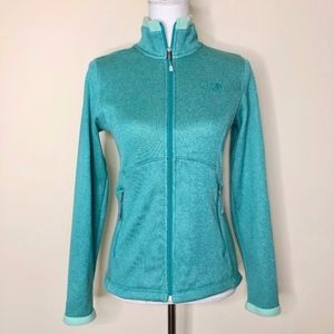 The North Face Zip Up Jacket Teal Green